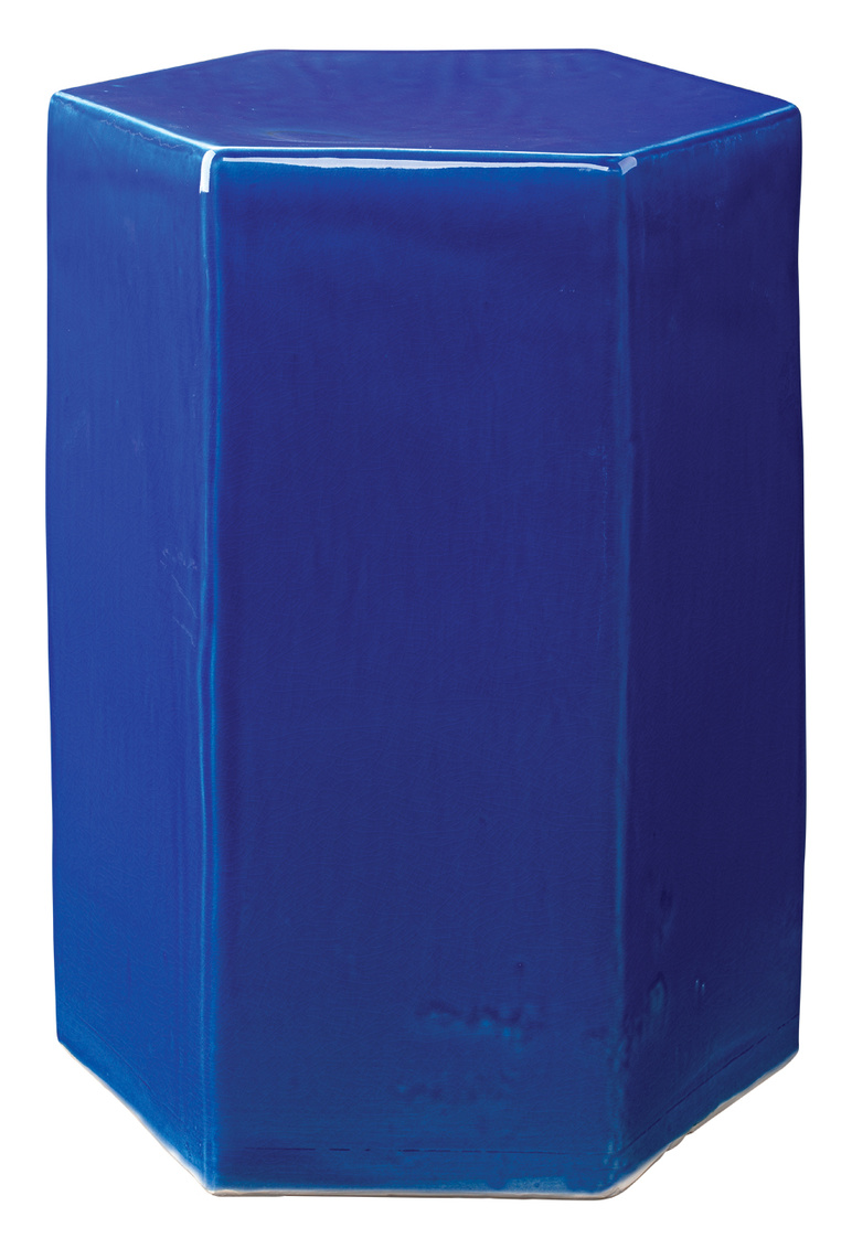 Porto End Table Large, Cobalt Blue