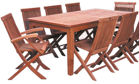 St Tropez Teak Dining Table 7ft