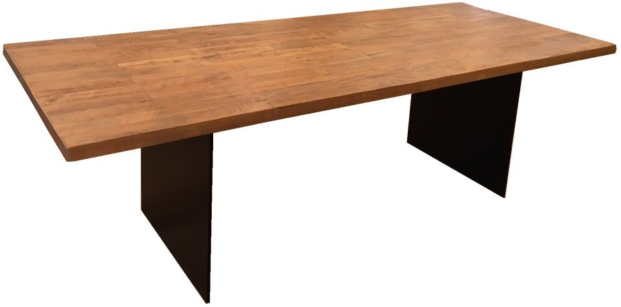 Wilcox Iron Base Dining Table