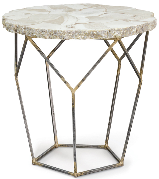 Loren Fossilized End Table